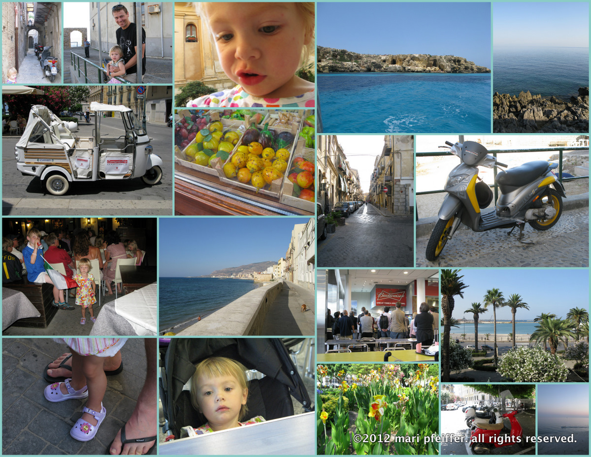 collage photos sicily june july 2012